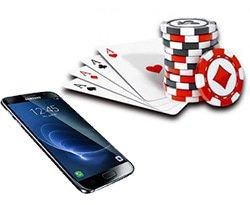 smartphone + cartes + jetons